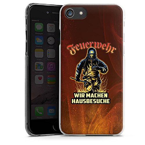 Apple iPhone SE Stand Up Hülle Case Cover mit Standfunktion Feuerwehrmann Spruch Feuerwehr Hard Case transparent