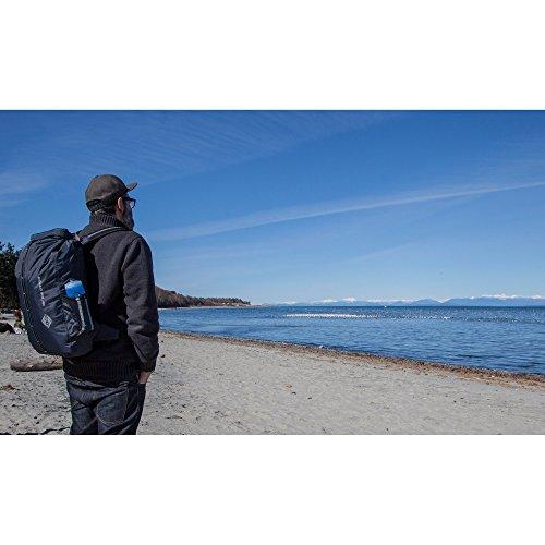 Aqua Quest SPORT 30 L Borse Impermeabile Zaino Carbone - Roll-Top Protegge il tuo Computer Portatile durante le Escursionismo, Campeggio e Viaggio Nero (Schwarz)