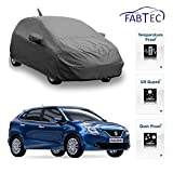 #3: Fabtec Premium Quality Full Sized Triple Stiched Car Body Cover With Mirror & Antenna Pocket, Buckle Lock & Storage Bag For New Maruti Baleno