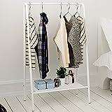 LIANGLIANG Kleiderständer Dreieckiges Design-Mehrzweckregal Metall, 60 cm lang / 35 cm breit / 117 cm hoch vierfarbig optional (Farbe : Weiß)