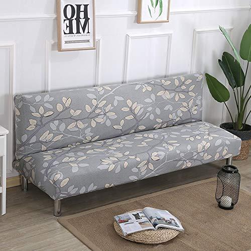 PCSACDF Grau und Schwarz Schlafsofa Klappstuhl Schonbezüge Stretchbezüge Billig Couch Protector Elastic Futon Bankbezüge 150-185cm K031