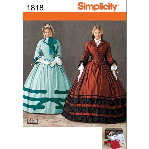 Simplicity Muster 1818u5-k Schnittmuster Kostüm Gr, 16-18-20-22-24