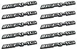 10x AMG Sticker Emblem Logo Aufkleber Mercedes C CL CLS E S SL SLK ML GL B 63 GLE