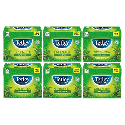 Tetley Pure Green Tea Bags, Pack of 6