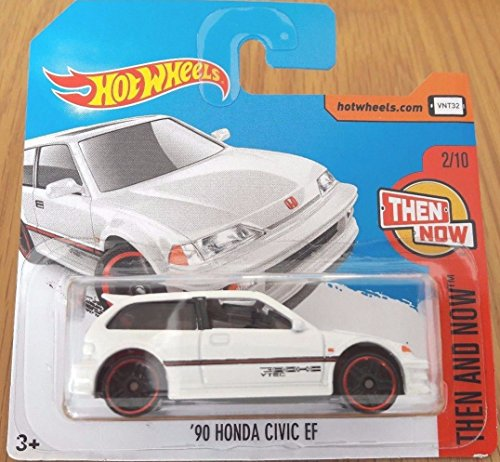 2017 Hot Wheels Then and Now '90 Honda Civic EF White 330/365 (Short Card)