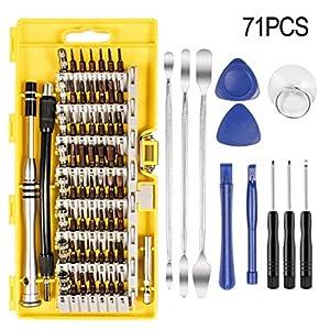 51LCUN gmDL. SS300  - Dioxide 71 en 1 Juego Destornilladores de Precision, Profesional Magnético Caja de Herramientas Completa para iphone iPad Laptop PC Teléfonos Móviles PS4 Xbox Cámara etc.