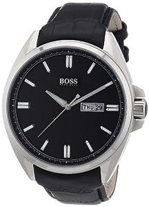 Hugo Boss 1512874 - Reloj analógico de cuarzo para hombre con correa de piel, color negro de Boss