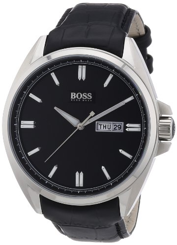 Hugo Boss men's Quartz Watch Analogue Display and Leather Strap 1512874