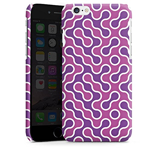 Apple iPhone 6 Housse Étui Silicone Coque Protection Lilas Rose vif Motif Cas Premium brillant