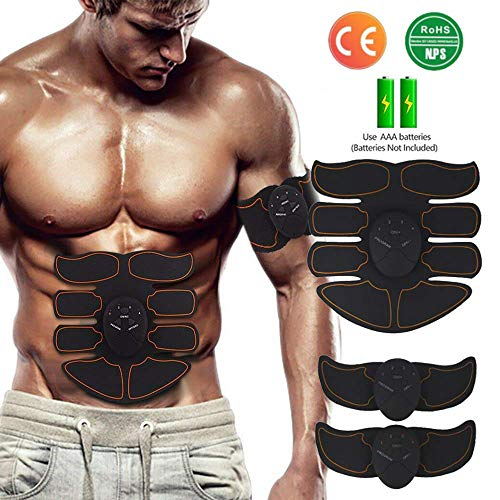 Elettrostimolatore muscolare, elettrostimolatore per addominali - ems stimolatore muscolare addominali trainer abs stimulator per braccio/gambe/waist/glutei