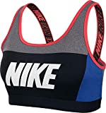 Nike Damen Distort Classic Sport-BH, Carbon Heather/Game Royal/White, XS