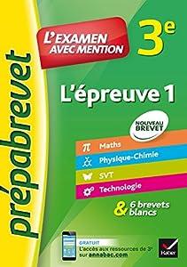 """Afficher """"L'épreuve 1, 3e"""""""