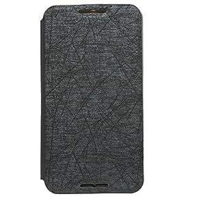 Brain Freezer PU Rain Flip Cover Case With Stand For Motorola Nexus 6 Black
