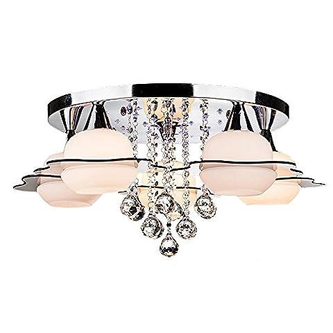 TOPQSC Plafonnier Éclairage Moderne Réglable à Domicile Éclairage de Plafond à Cristaux Liquides Luminaires de Salle de Restaurant(5-light)