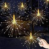 Queta Telecomando Batteria Box Filo di Rame Stringa Esplosione Fireworks Light luci Decorative LED 1Confezione 180 Lights