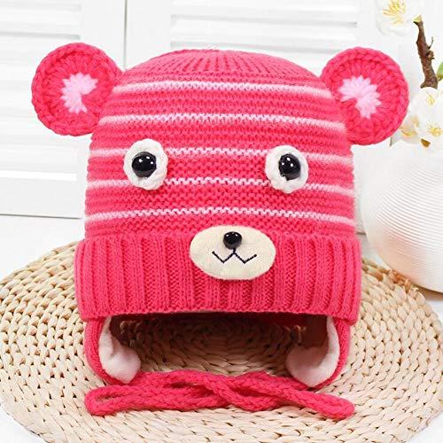 Children es Hut, Children ' s Hut Wool Blend Knit hat Wool Lining Thick Warm Winter hat Boy/,Pink Boys Knit Winter Hut