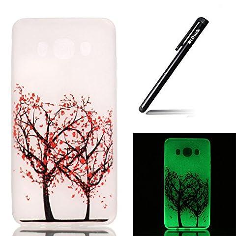 Btduck Coque De Protection Housse Étui Pour Samsung Galaxy J120 Flip Case Cover Lumineux L