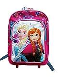Disney Frozen Elsa Trolley Suitcase Childs Blue Kids Travel Luggage Bag Case 19in/48cm