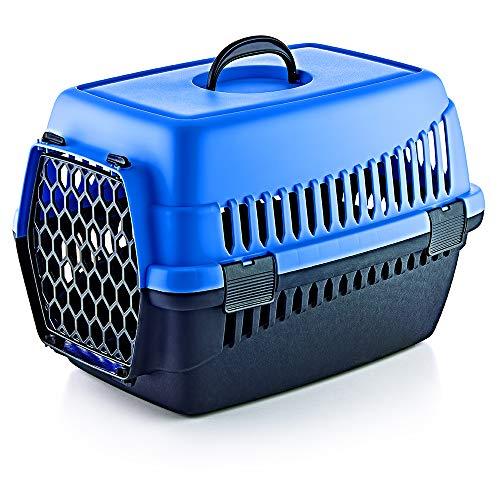 Furany Transportbox für Haustiere | Tragebox für Hunde und Katzen (Blau)