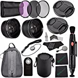 25mm 2x Telephoto Lens With Pouch + 25mm Wide Angle Lens + 25mm 3 Piece Filter Set (UV, CPL, FL) + LENS CAP 25MM + Lens Pen Cleaner + Lens Cap Keeper + Cleaning Cloth + Remote Bundle