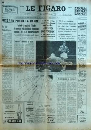 FIGARO (LE) [No 9235] du 27/05/1974