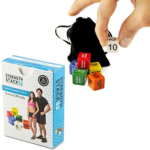 Slendertone System Arms (Fitness-Würfel von Strength Stack 52. Körpergewicht-Übung Workout-Spiel. Entworfen durch einen Militäreignungsexperten. Video-Anweisungen enthalten. Keine Ausrüstung benötigt.)