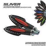 Blende für SMD Blinker Sliver rot Paar ABS Motorrad Motorradblinker Styling tuning