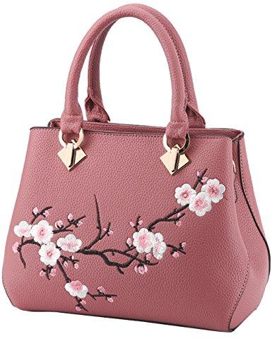 Menschwear Damen Handtasche Marken Handtaschen Elegant Taschen Shopper Reissverschluss Frauen Handtaschen Lila Rosa