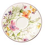 Villeroy & Boch 10-4100-1310 Mariefleur Basic Kaffee-Untertasse, 16 cm, Premium Porzellan