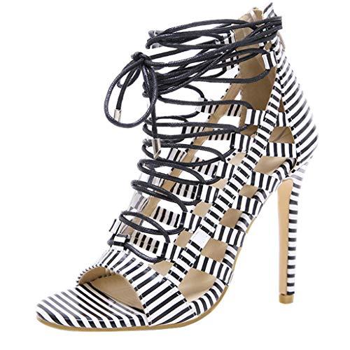 ODRD Sandalen Shoes Lässige Mode Frauen Fisch Lippen Schuhe Cross Strap Rutschfeste Damen High Heel Sandalen Schuhe Strandschuhe Freizeitschuhe Turnschuhe ()