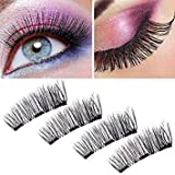 Magnetic Eyelashes 3 Magnets Butterfly Magnetic False Eyelashes No Glue Magnetic Lashes Full