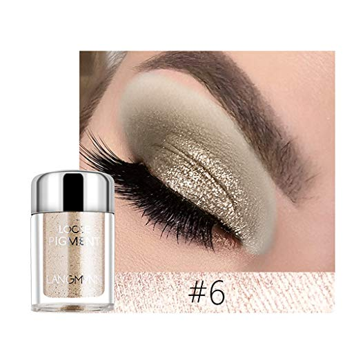 Luckhome Eyeshadow Palette Shades, aufeinander abgestimmte Rosé-Nuancen, Hochpigmentierte Textur Schimmern Sie Glitter Lidschatten Pulver Palette Matte Lidschatten Kosmetik Make-up(F) -