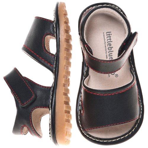 Little blue lamb squeaky chaussures sandales fermeture velcro noir Noir