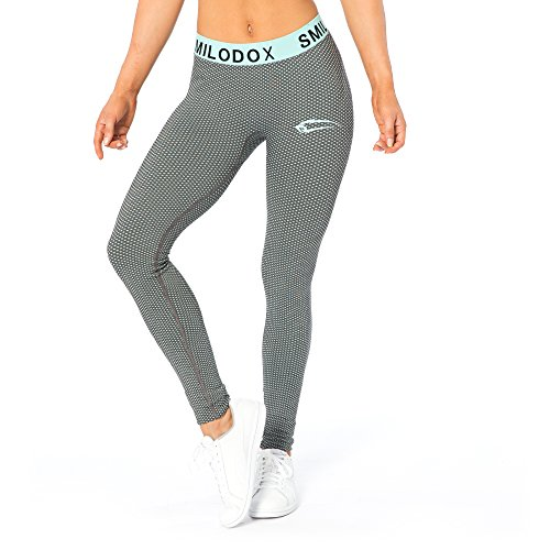 SMILODOX Sport Leggings Damen | Seamless - Figurformende Leggins für Sport Fitness Gym Training & Freizeit | Sporthose - Workout Trainingshose - Tights Laufhose Mint