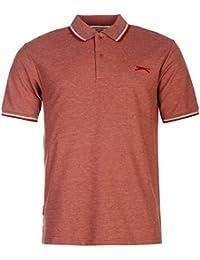 SLAZENGER Polo pour Homme Bordeaux Top T-shirt pour homme