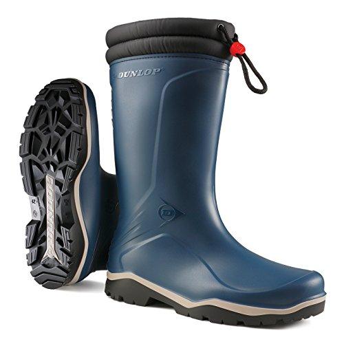 Dunlop Blizzard Unisex Gummistiefel (41 EU) (Blau/Schwarz) (Heels Kordelzug)