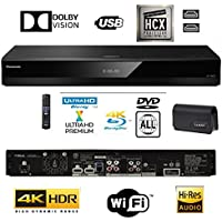 Panasonic DP-UB820EBK Smart 3D 4K UHD Upscaling BLU-Ray / DVD (Multi Region) Reproductor con Audio de Alta Resolución, Ultra HD Premium Certificado - WiFi -Twin HDMI/Optical Conexión.