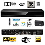 Panasonic DP-UB820EBK Smart 3D 4K UHD Upscaling BLU-Ray / DVD (Multi Region) Reproductor con Audio de Alta Resolución, Ultra HD Premium Certificado - WiFi -Twin HDMI/Optical Conexión.