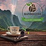 BANDOLERO-100-Compostabile-Made-in-Italy-100-Capsule-Compatibili-Nespresso-Caff-Arabica-da-Coltivazione-Ecosostenibile-Aroma-Inconfondibile-per-Macchina-Macchinetta-Nespresso