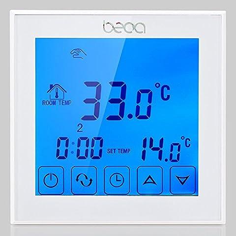 BECA BHT-323GALTP 220VAC Datenspeicher Digital 5 + 2 sechs Perioden wöchentlich programmierbar 3A Wasser Boden Heizraum Thermostat