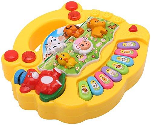 Akshata Baby farm animal piano with real animal sound, piano...
