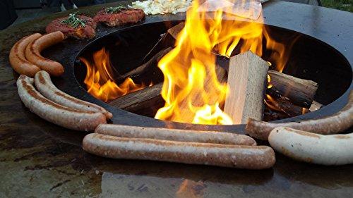 remundi nero cube grill feuerstelle mit grillplatte optionales zubeh r feuerkorb feuerschale. Black Bedroom Furniture Sets. Home Design Ideas
