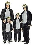 KARNEVALS-GIGANT Maulwurf Kostüm schwarz für Kinder   Größe 98   1-teiliges Tierkostüm für Karneval   Maulwurf Faschingskostüm