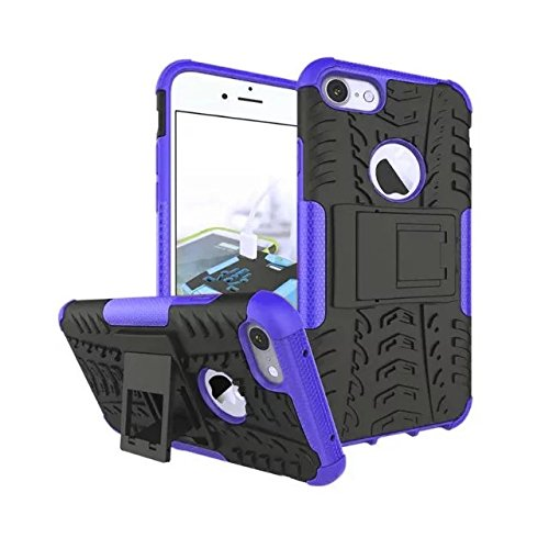 iPhone 7 hülle,Lantier 2 in 1 Design Tire Series [Anti Blockier System] Dual Layer Hybird Tropfenschutz Defender Case Schutzhülle für iPhone 7 4.7 Zoll Orange Tire Series Purple