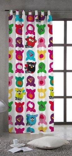 *Exclusiv* Furby Gardine Vorhang 150cm breit x 245cm lang (Öko Tex Standard 100)