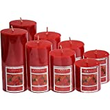 "VANSHIKA Decorative Storebury Piller Candle Set Size 2""/2"", 2""/3"", 2""/4"", 2""/5"" Set Of 8 Pices"
