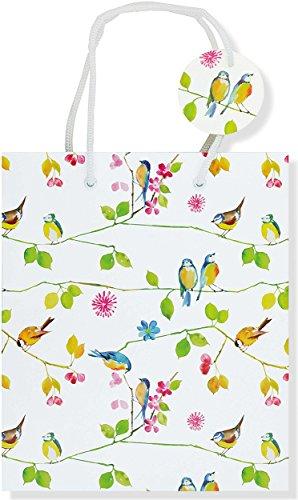 Deluxe Gift Bag Watercolor Birds