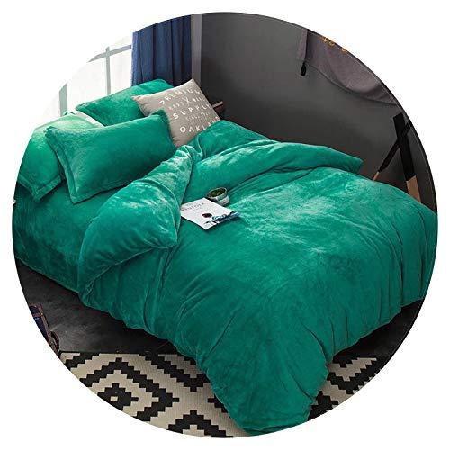 N/A Flanell-Bettwäsche-Set, für Herbst und Winter, warm, Fleece, Bettlaken und Spannbettlaken, King-Size-Bett, Flanell, 2, Twin -