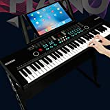 FutureShapers Kids 61 Keys Digital Piano Music Keyboard with Microphone Organ Musical Instrument