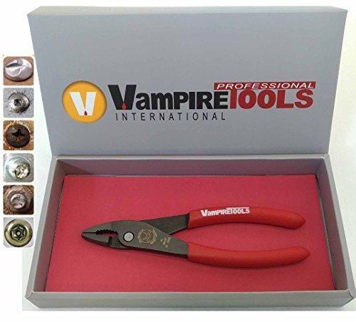 Vampliers Weltweit beste Zange. Abziehzange mit Gleitgelenk, 17,8 cm, in Geschenkbox zum Entfernen von rostenden, korrodierten Torx-Spezialschrauben, hergestellt in Japan